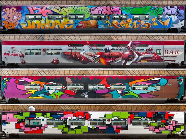 The final wagons: Jonone, Seak, Sozyone, Zedz (top to bottom)